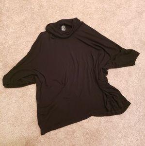 Women's Bobeau Short Sleeve Black Sweater Size XL